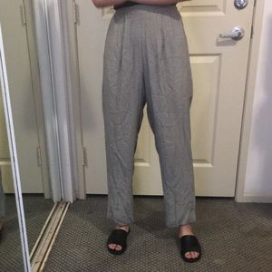 Vintage Ultra High Wait Houndstooth Trousers